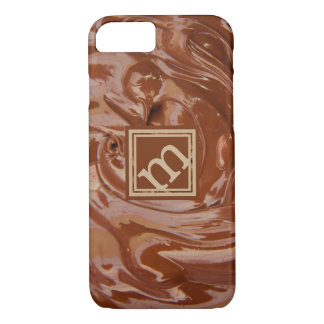 Chocolate Lover, Angled Monogram iPhone 8/7 Case