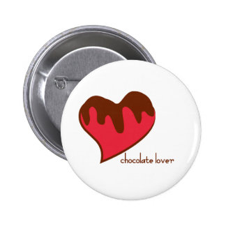 Chocolate Lover Pinback Buttons
