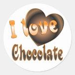 Chocolate Lover Classic Round Sticker