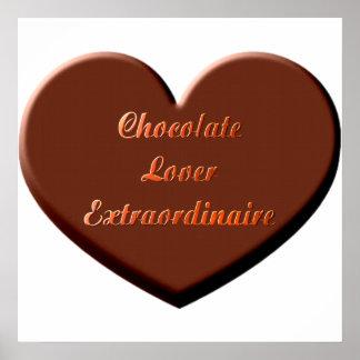 Chocolate Lover Extraordinaire Poster