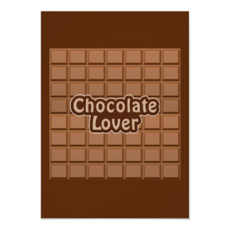Chocolate Lover invitation - customize 13 Cm X 18 Cm Invitation Card