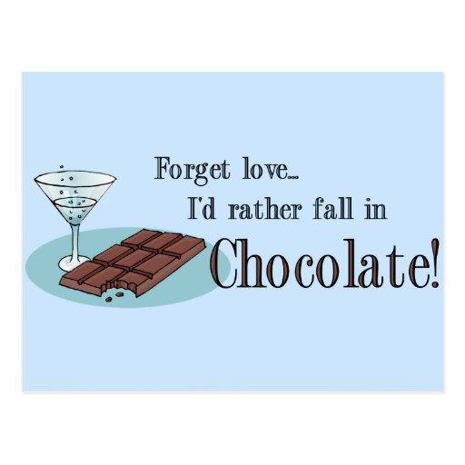 Chocolate Lover Postcard