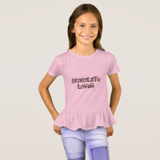 Chocolate Lover Sprinkles Heart Funny Typography T-Shirt