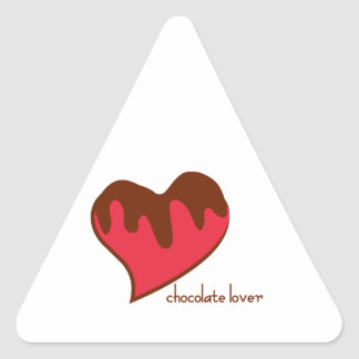 Chocolate Lover Triangle Sticker