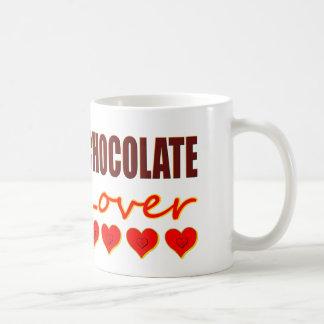 Chocolate Lover with heart-shaped chocolate boxes Basic White Mug