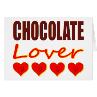 Chocolate Lover with heart-shaped chocolate boxes Greeting Card