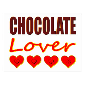 Chocolate Lover with heart-shaped chocolate boxes Postcard