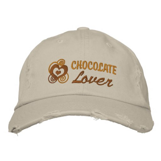 Chocolate Lover's Embroidered Hats