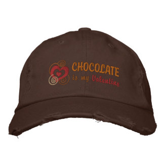Chocolate Lover's Embroidered Valentine Hat Baseball Cap