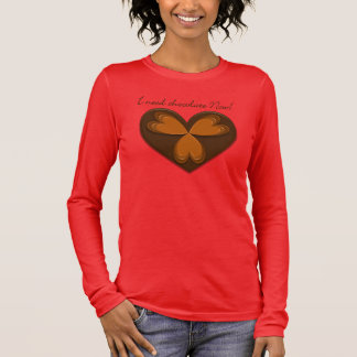 Chocolate lover's relaxed fit 3/4 sleeve v-neck long sleeve T-Shirt