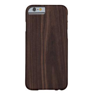 Chocolate Mahogany Dark Wood Grain Texture Barely There iPhone 6 Case