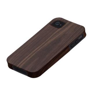 Chocolate Mahogany Dark Wood Grain Texture iPhone 4/4S Covers