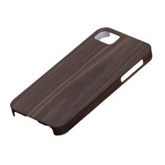 Chocolate Mahogany Dark Wood Grain Texture iPhone 5 Cases