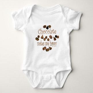 Chocolate Makes Me Happy Baby Bodysuit