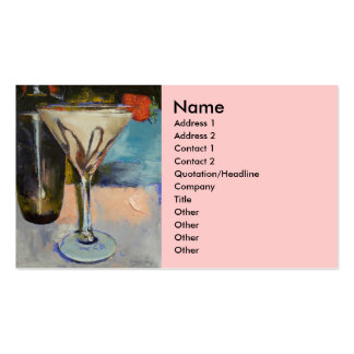 Chocolate Martini Business Card