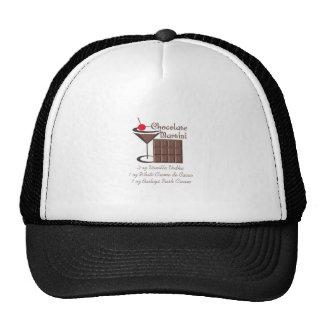 CHOCOLATE MARTINI HATS