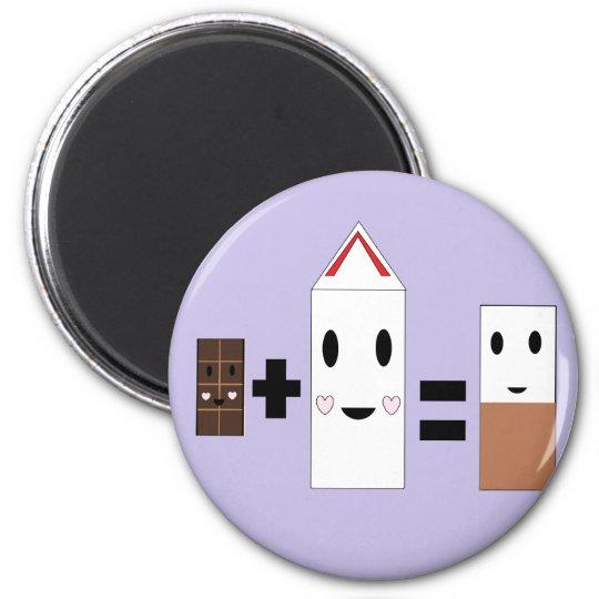 Chocolate Milk 6 Cm Round Magnet