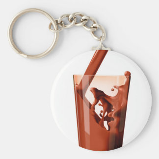 Chocolate Milk Basic Round Button Key Ring