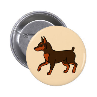 Chocolate Miniature Pinscher 6 Cm Round Badge