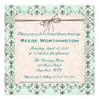 Chocolate Mint Bridal Shower Invite