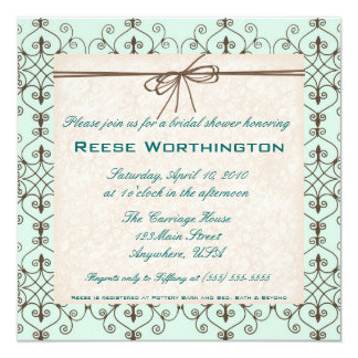 Chocolate & Mint Bridal Shower Invite