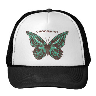 Chocolate mint butterfly mesh hat