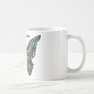 Chocolate mint butterfly coffee mug