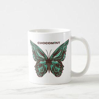 Chocolate mint butterfly mugs