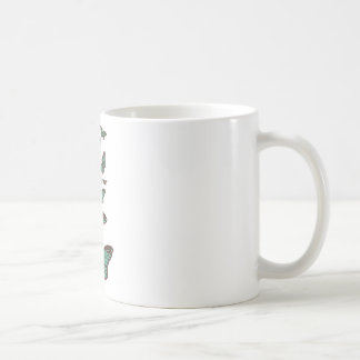Chocolate mint _butterfly coffee mug
