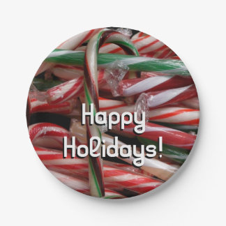 Chocolate Mint Candy Canes Paper Plate