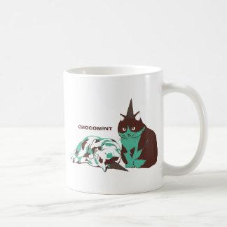 Chocolate mint _cat coffee mugs