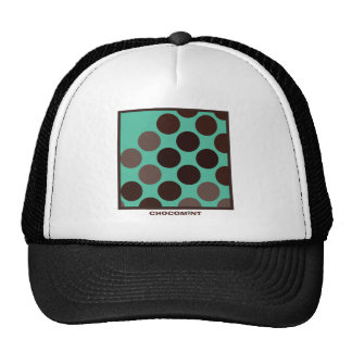 Chocolate mint dot trucker hats