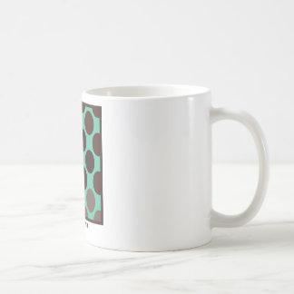 Chocolate mint dot mugs