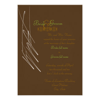 Chocolate Mint Invitation