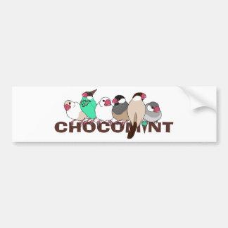 Chocolate mint java sparrow bumper sticker