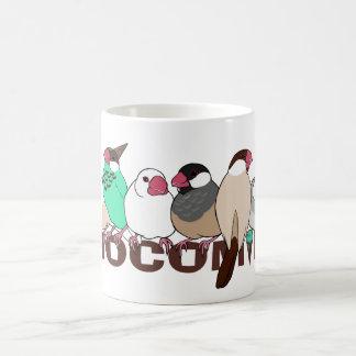 Chocolate mint java sparrow coffee mug