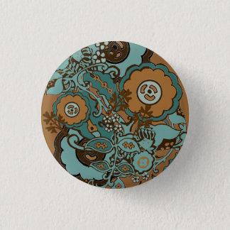 Chocolate Mint Paisley 3 Cm Round Badge