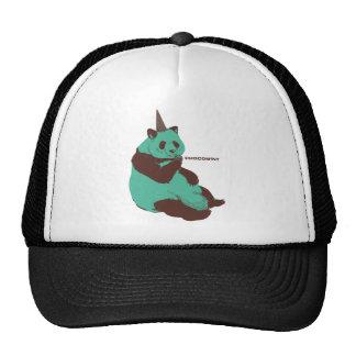 Chocolate mint panda trucker hat