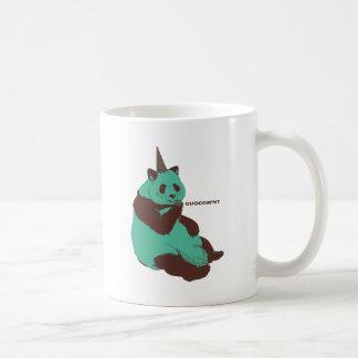 Chocolate mint panda coffee mugs
