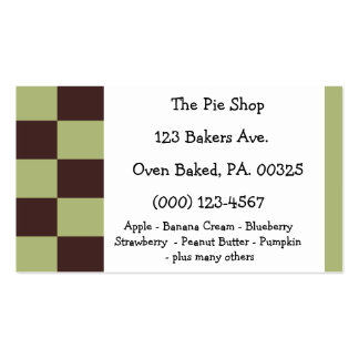 Chocolate Mint Pie Colors Pack Of Standard Business Cards