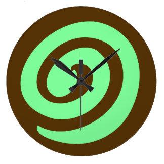 Chocolate Mint Pinwheel Cookie Clocks