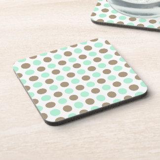 Chocolate Mint Polka Dots Coaster
