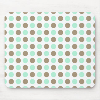 Chocolate Mint Polka Dots Mouse Pad