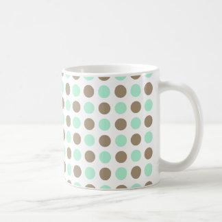 Chocolate & Mint Polka Dots Coffee Mug