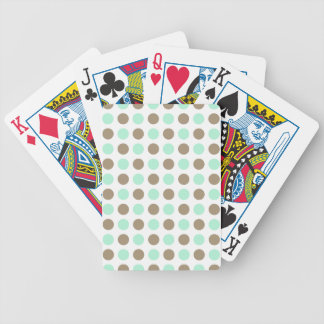 Chocolate Mint Polka Dots Playing Cards