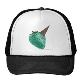 Chocolate mint _strawberry mesh hat