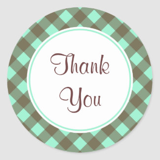 Chocolate Mint Thank You Stickers