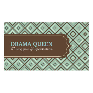 Chocolate Mint Tiles Pattern Business Card
