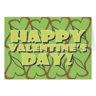 Chocolate Mint Valentine Greeting Card