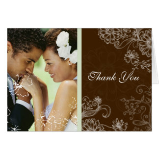 Chocolate Mint - Wedding Greeting Card